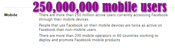 Facebook statistics for mobile devices june 2011