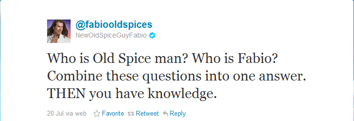 Fabio, the new Old Spice Guy